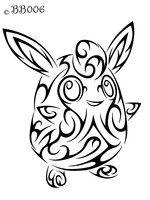 040 Tribal Wigglytuff By Blackbutterfly006 Tribal Pokemon