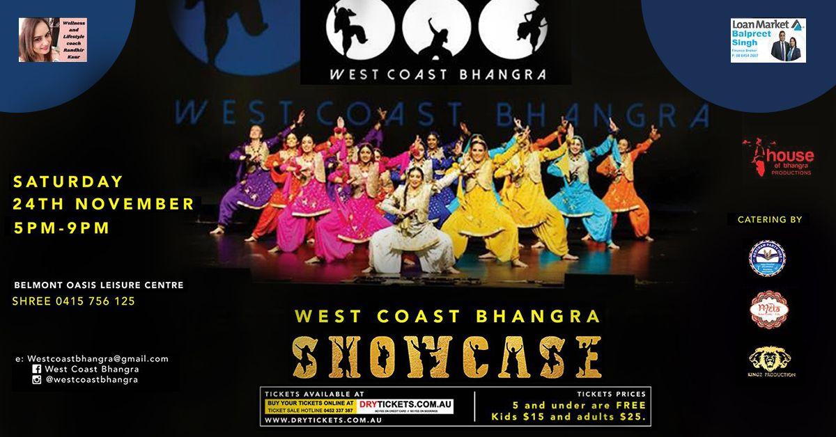 West Coast Bhangra Showcase In Perth💃 No service fees No