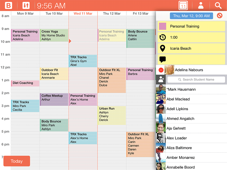 Bobclass appointment and client scheduling app