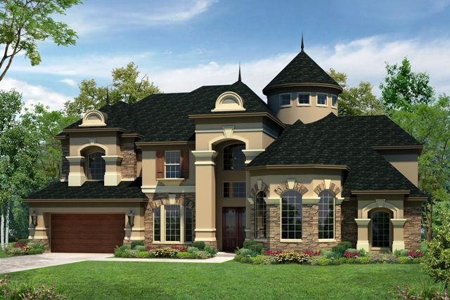 Dream House With Repunzel Tower Curb Appeal House
