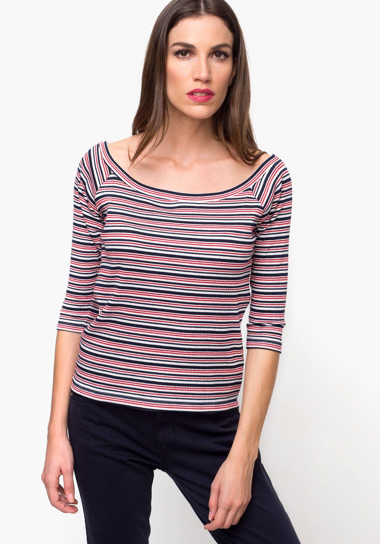 83b9f3ace0c Jersey de mujer, de punto fino, con manga larga y cuello de barco. Diseñado  en España.Poliéster 63% Viscosa 32% Elastano 5%