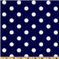 Spot On Polka Dots Navy (for a diy dress or skirt this summer)