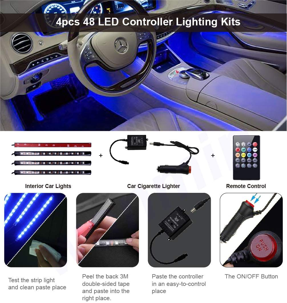 Led Interior Car Lights Controller Led Lights For Cars