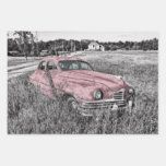 Pink Classic Car Wrapping Paper Sheets | Zazzle.com
