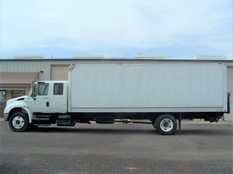 2010 International 4400 Extended Cab Box Truck Federal Gov Truck Since New Only 29k Miles Working Ac Power Windows Pow Trucks Extended Cab Cab