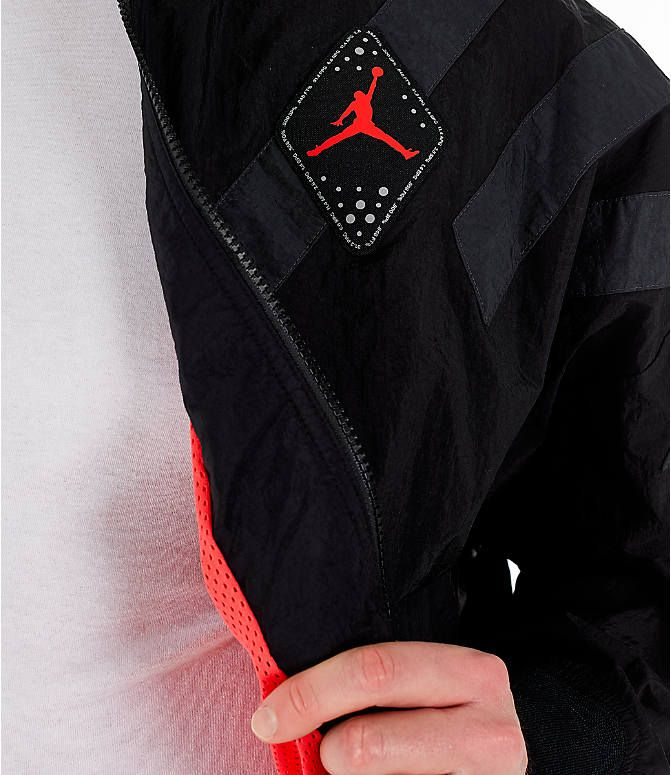 c4397c33b1b Detail 2 view of Men's Air Jordan Retro 6 Legacy Nylon Jacket in Black