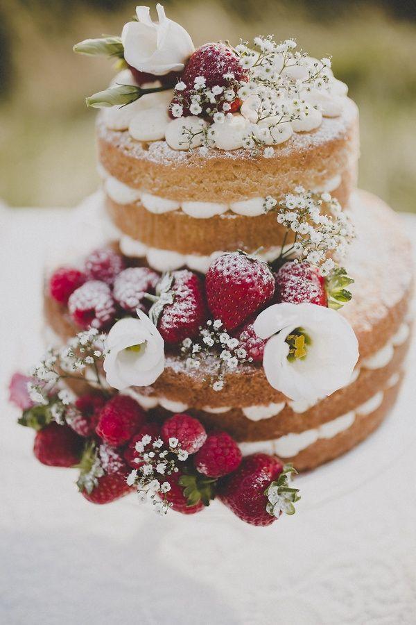 Gâteau de mariage bohème