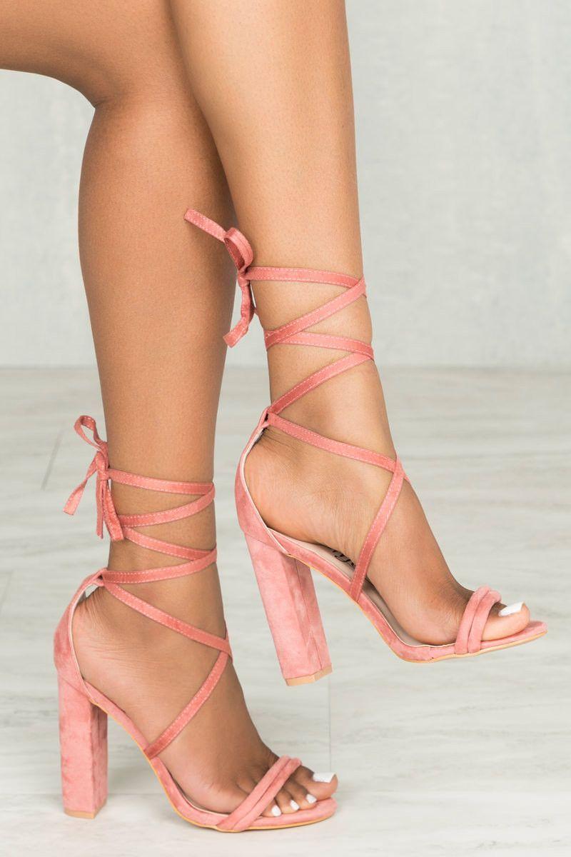 57f60d59f Whitney Lace Up Platform Heel (Blush) Zapatos Hermosos