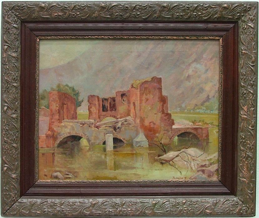 HUBÁČEK Josef (1899-1931): Torzo chrámu.
