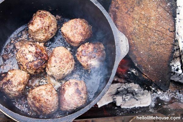 Mountain meatballs prep 2 - Hello Little House