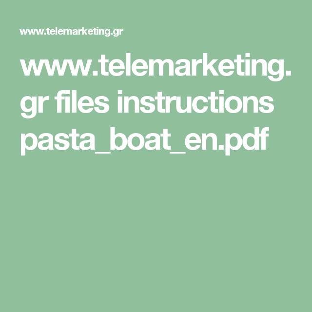 Telemarketing Files Instructions Pastaboatenpdf