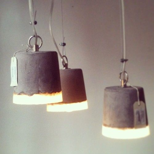 amazing concrete hanging lights