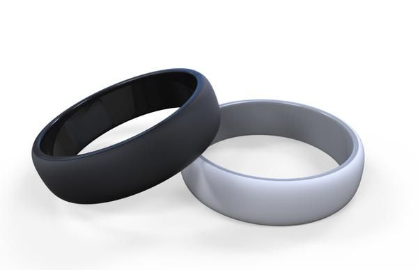 Silicone Wedding Rings For Active Men Black Grey 2 Piece Set 9