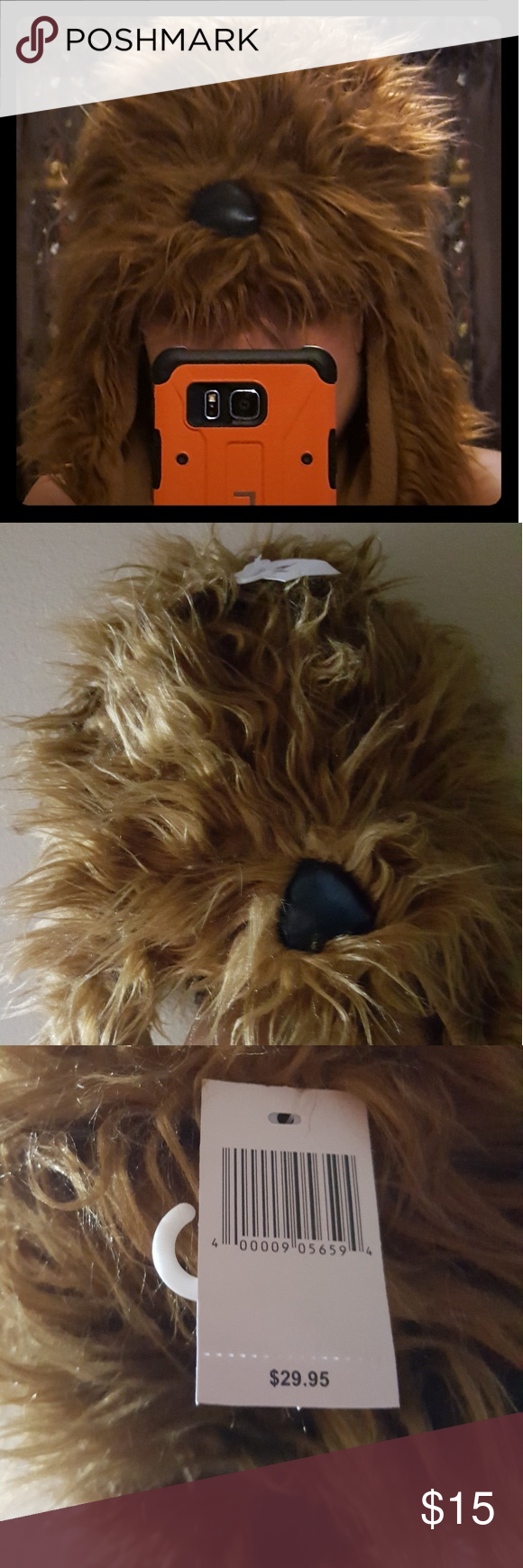 78ad36091bb ... clearance disney chewbacca hat brown furry cheewbacca hat with long  ears. purchased at disneyland and