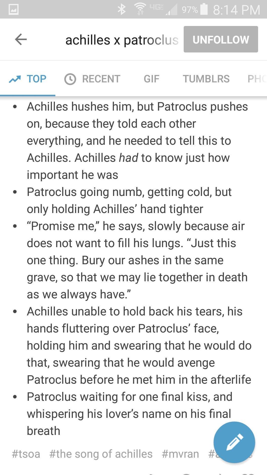 And patroclus achilles
