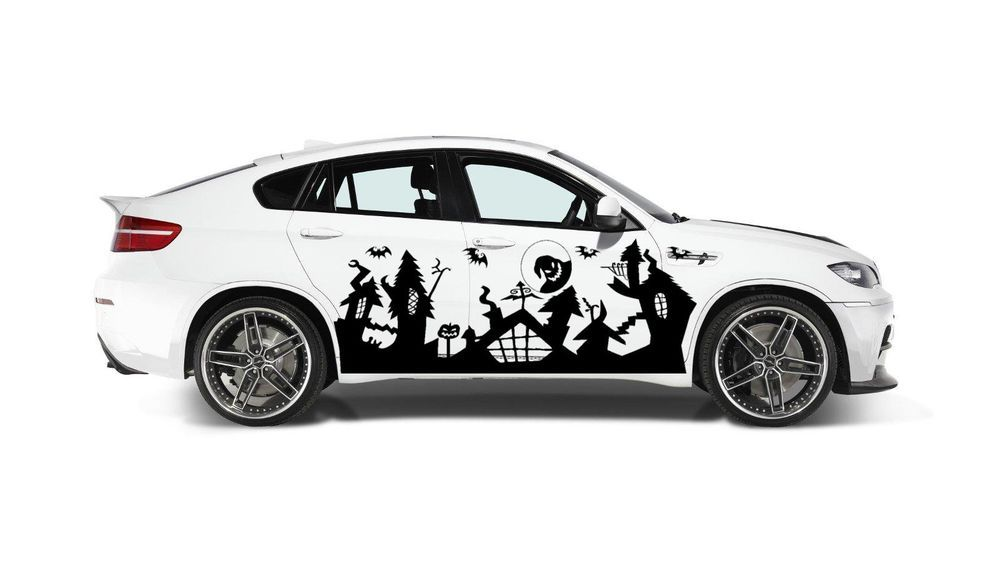 NIGHTMARE BEFORE CHRISTMAS PINSTRIPING GRAPHIC VINYL DECAL FOR SIDE CAR TRUCK