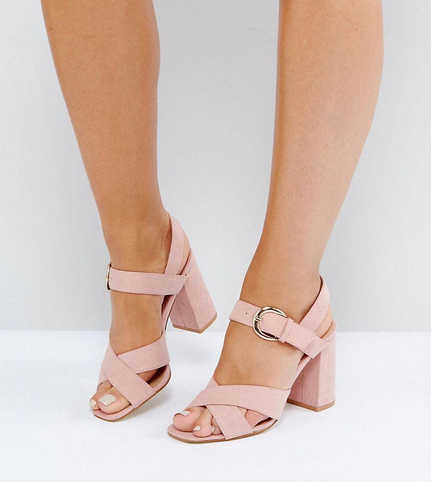 e2690a73de0e5c Truffle Collection Wide Fit Block Heel Sandal - Pink