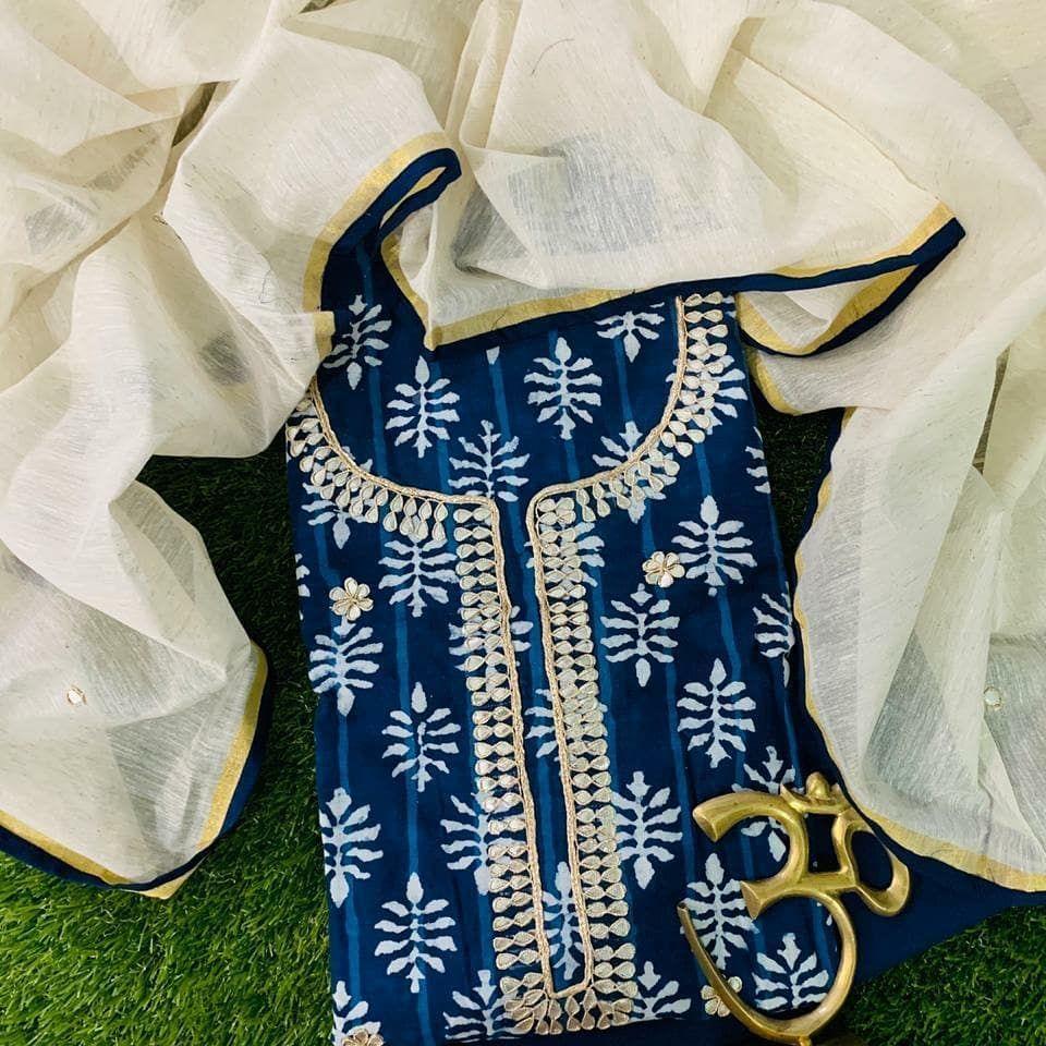 INDIGO PRINTS✌🏼✌🏼 #indigo #embroiderydesign #alizaboutique #lovedesign #insta #ethnicwear #boutiqueclothing #chandigarhboutique