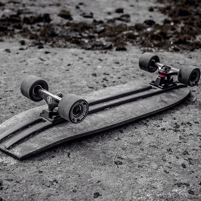 The Stone Uitto Biocomposite skateboard. BTW this picture is not black and white :) Link in Bio!