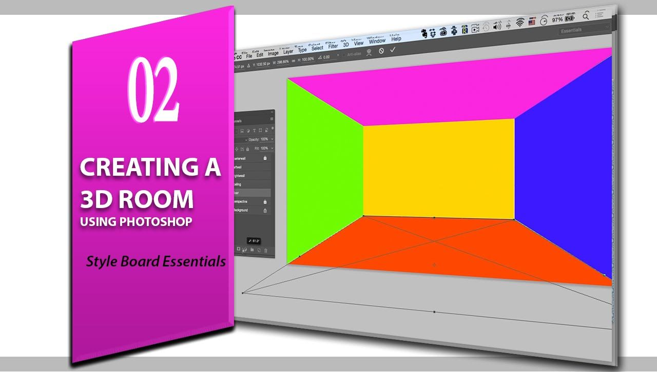 Learn how to create a 3d room for interior design styleboard in this free photoshop tutorial designers learn how to create a room that can be used to create beautiful interior style boards mood boards and beyond baditri Images