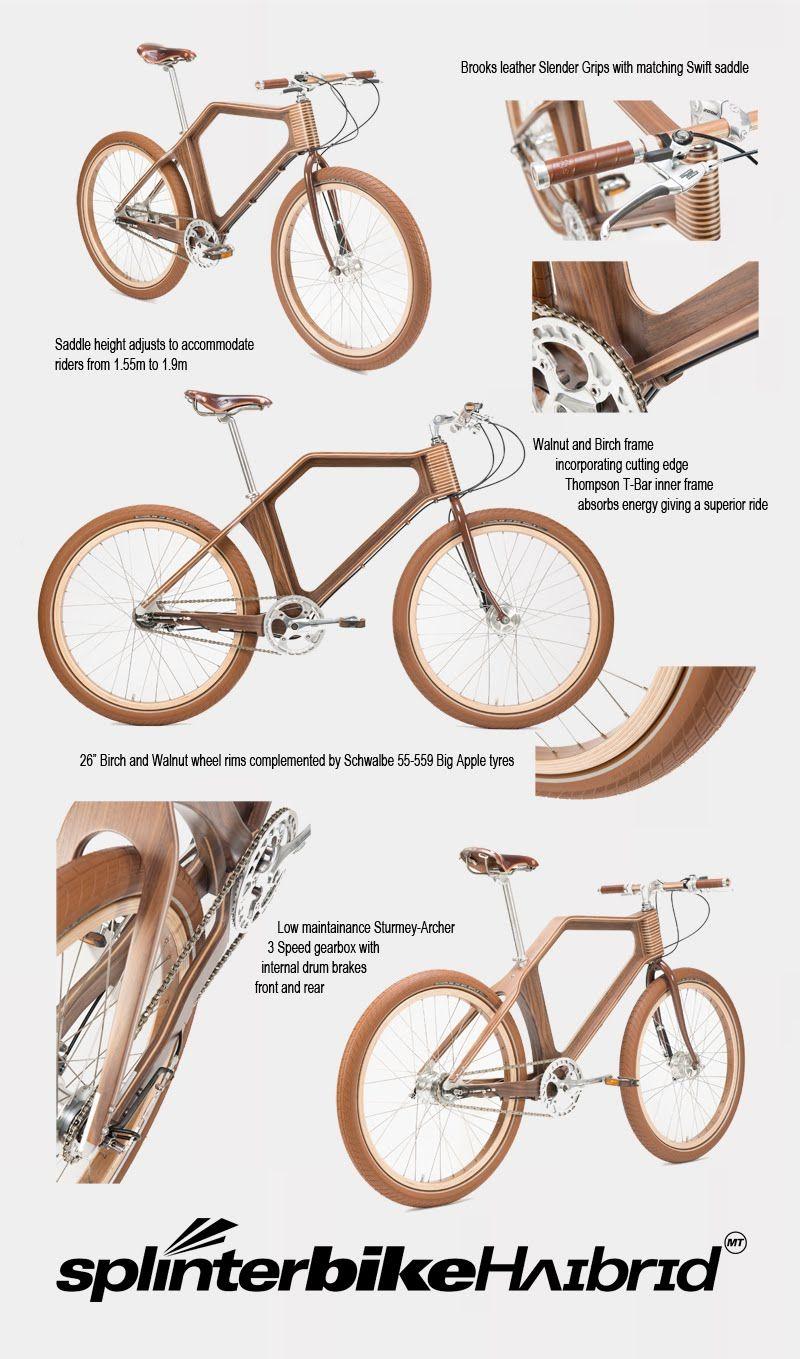 Splinterbikehʌɪbrɪd Splinterbike Co Uk Fahrrad Holz