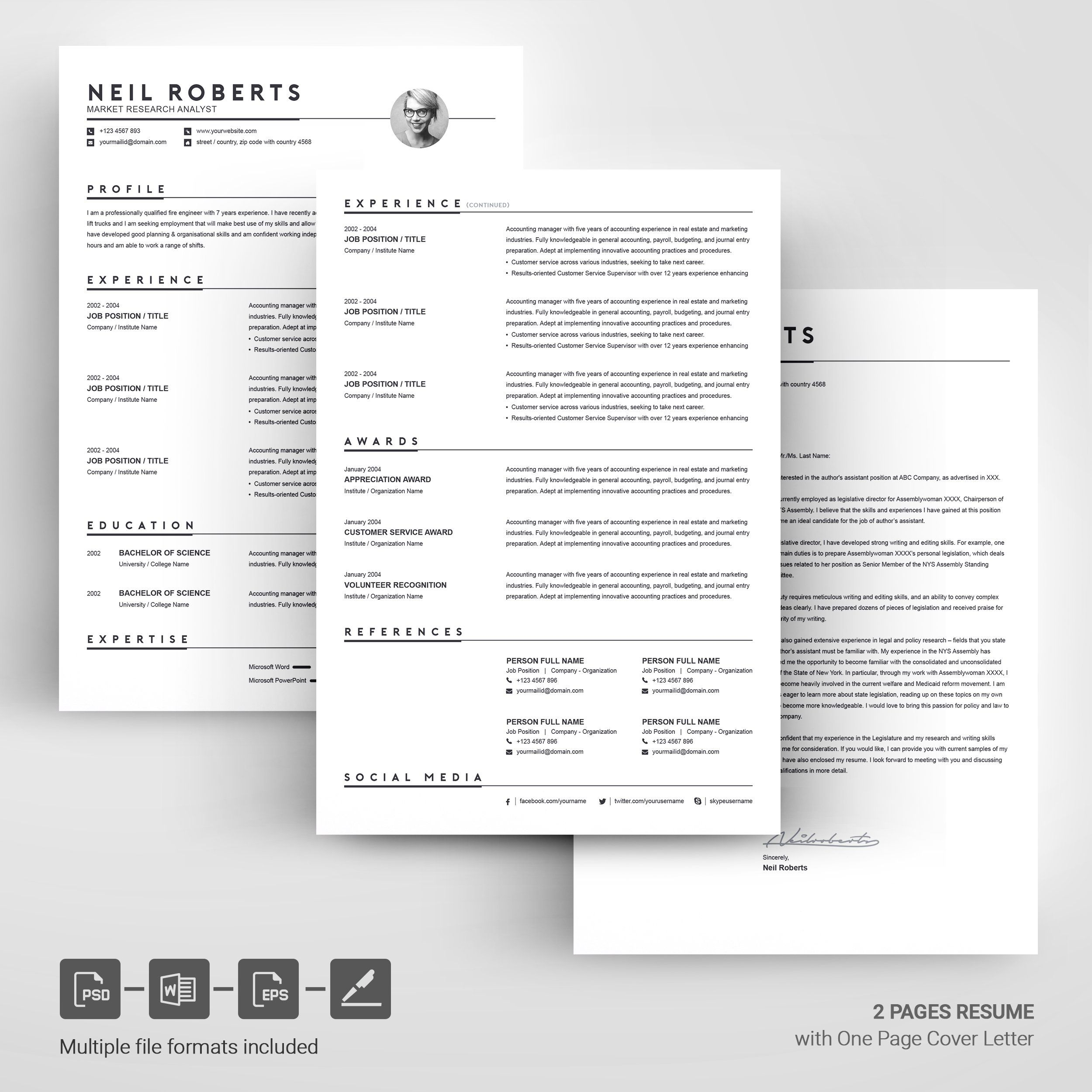 Clean Resume Template Word CV Clean resume template