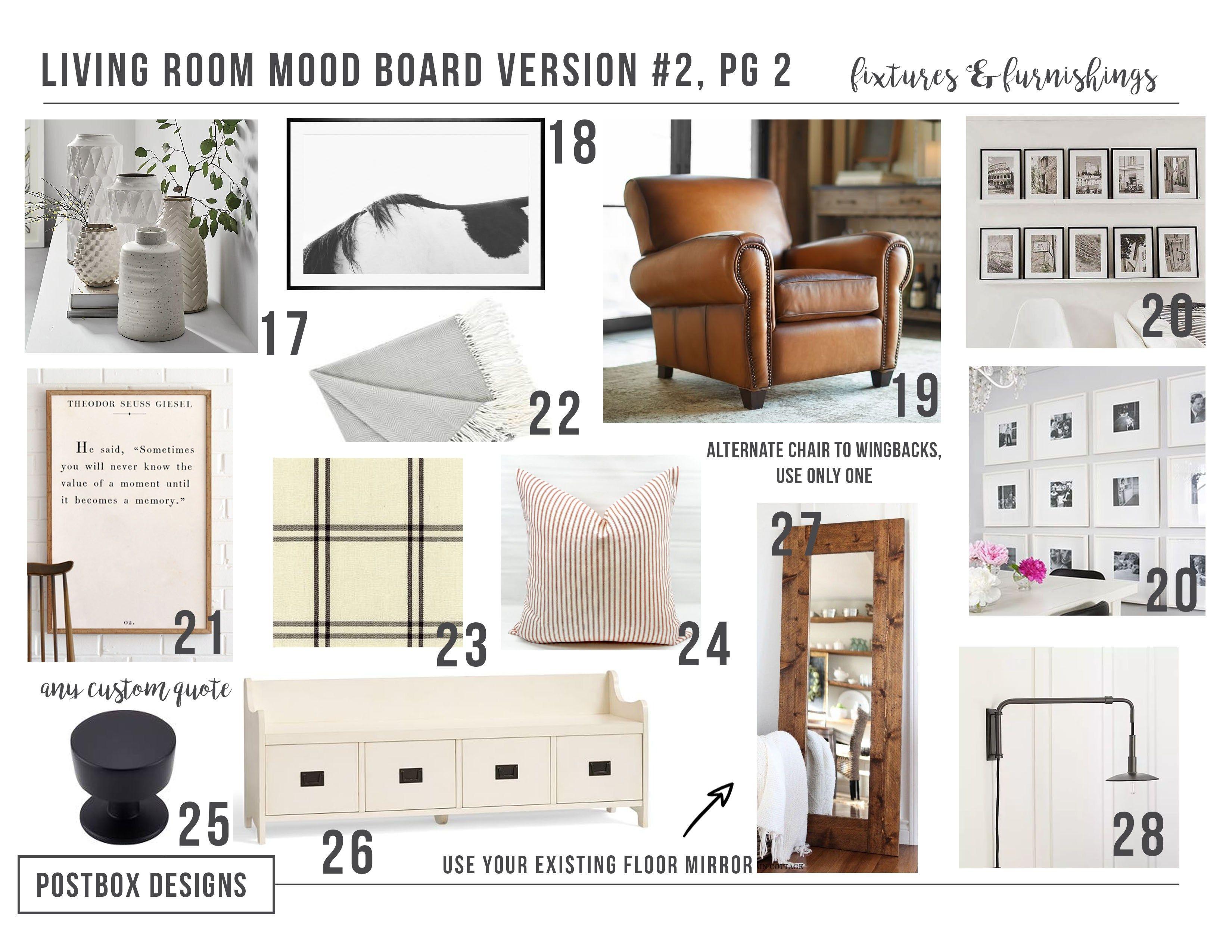 Postbox Designs Interior E Design: Farmhouse Meets Modern Living Room  Makeover, Modern Farmhouse