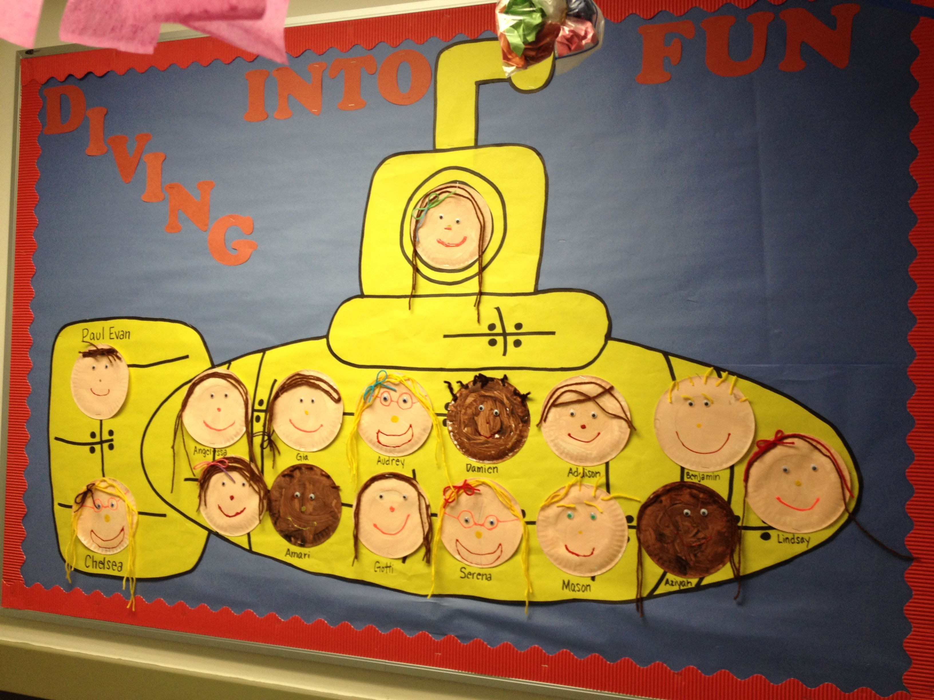 Preschool Submarine Ocean Summer Theme