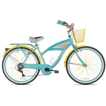 Bca 26 Margaritaville Multi Speed Cruiser Women S Bike Teal Walmart Com Cruiser Bike Womens Bike Margaritaville Bike