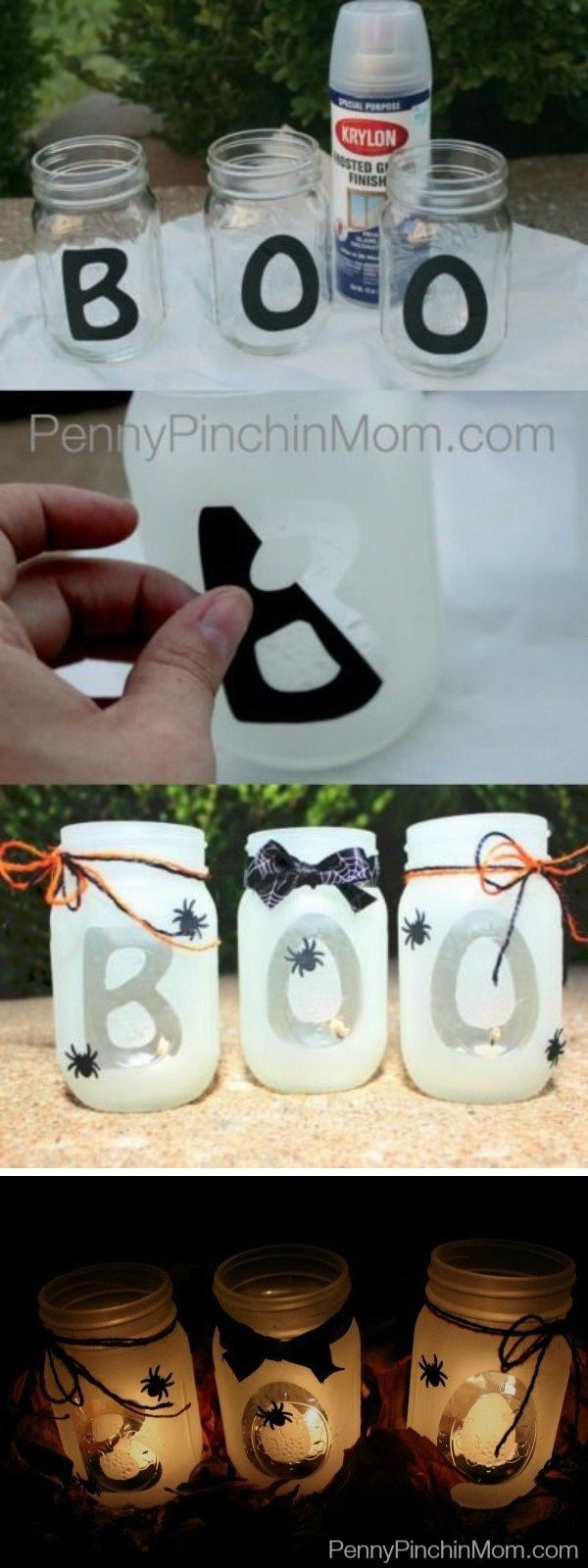 40+ Spooky DIY Halloween Decoration Ideas #masonjarcrafts