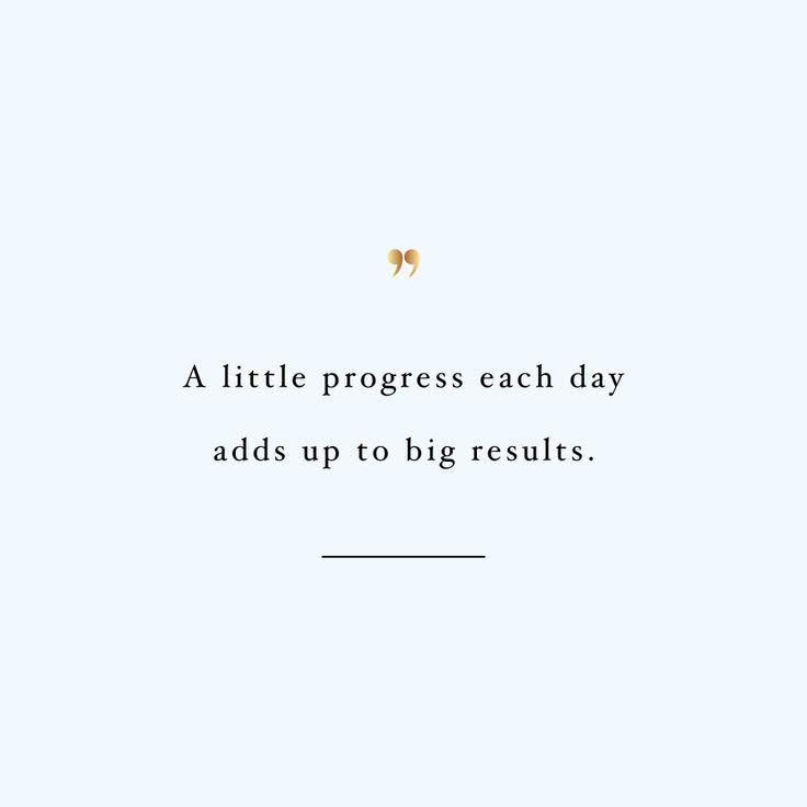 A Little Progress Each Day | Wellness And Healthy Lifestyle Motivation Quote