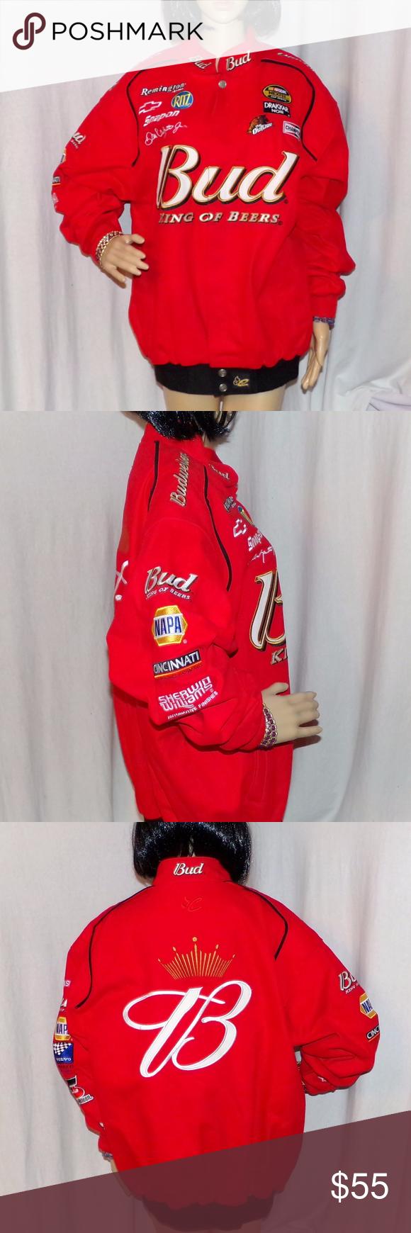 Dale Earnhardt Jr 8 Drivers Jacket NASCAR Bud Clothes