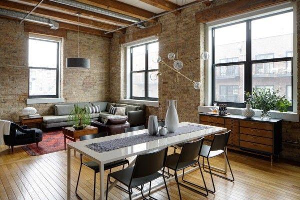 45 Esszimmer und Küchen Ideen mit industriellem Touch Лофт
