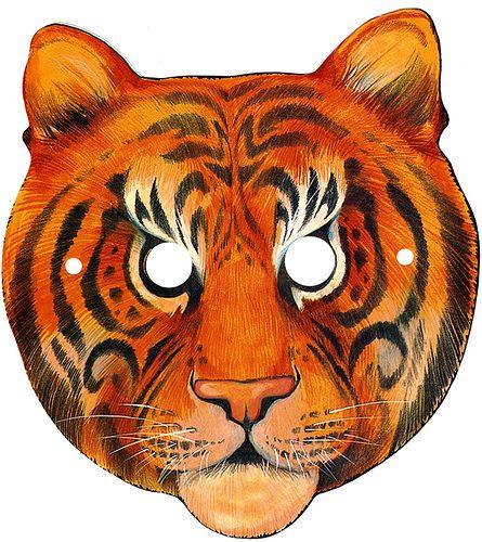 image regarding Printable Tiger Mask referred to as Printable Tiger Cutouts tiger mask template Pops Tiger
