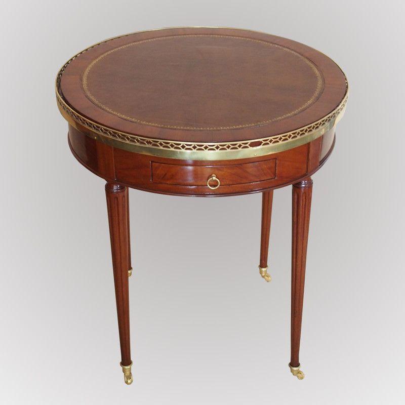 Table bouillote en acajou de Cuba d\u0027époque Louis XVI #Antiquité du