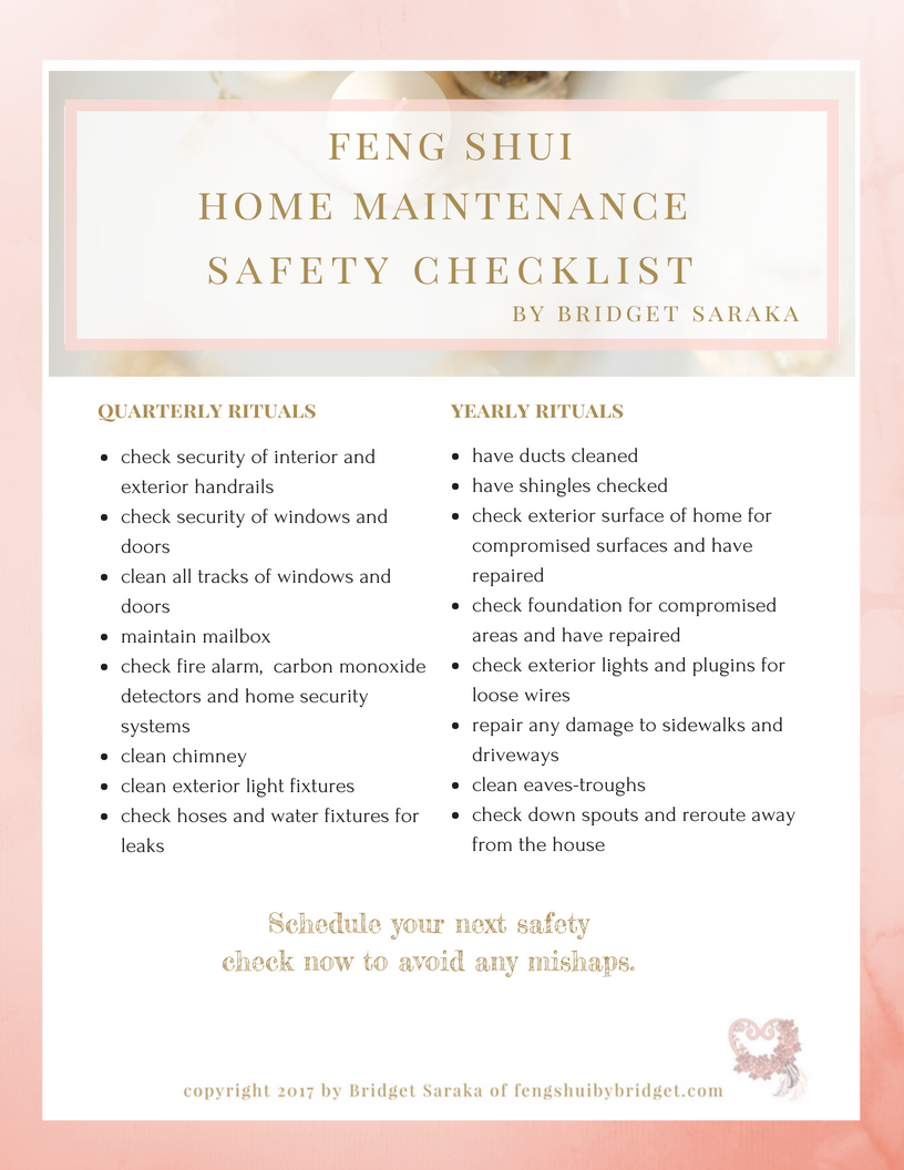 feng shui for the garage maintenance cleaning checklist printable rh pinterest com