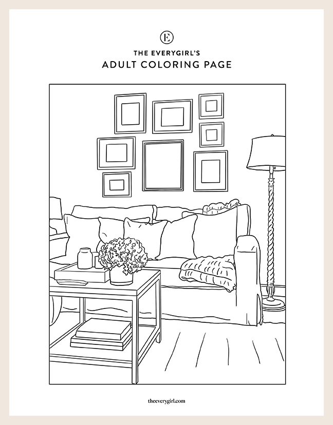 Week 2 The Everygirl S Free Printable Coloring Pages In 2020 Coloring Pages Printable Coloring Pages Printable Coloring Book