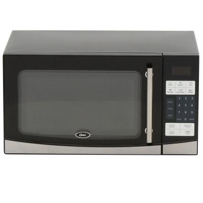 Oster 1 1 Cu Ft 1000 Watt Countertop Microwave In Black With