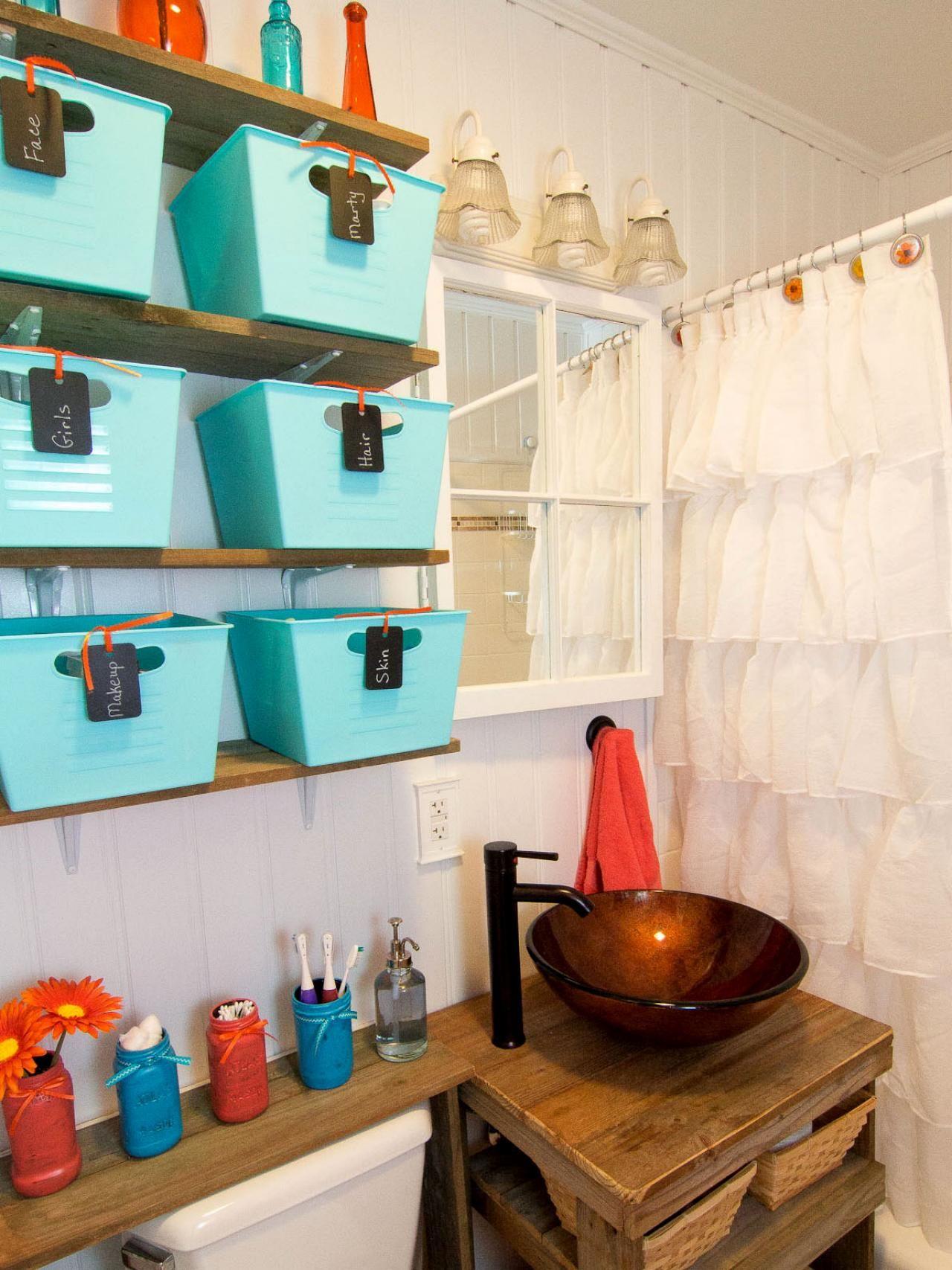 diy shelf ideas for bathroom%0A Big Ideas for Small Bathroom Storage