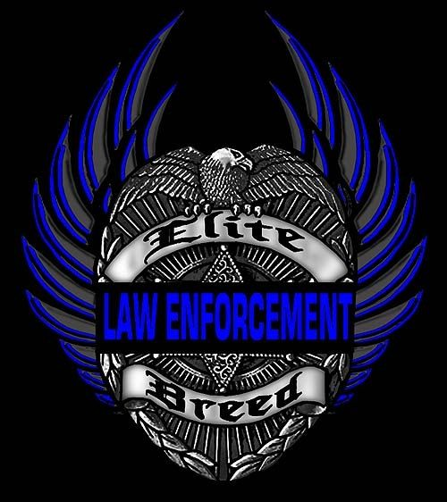 Tattoo Quotes Badges: Elite Breed Law Enforcement Eagle T-Shirt Size Size Small