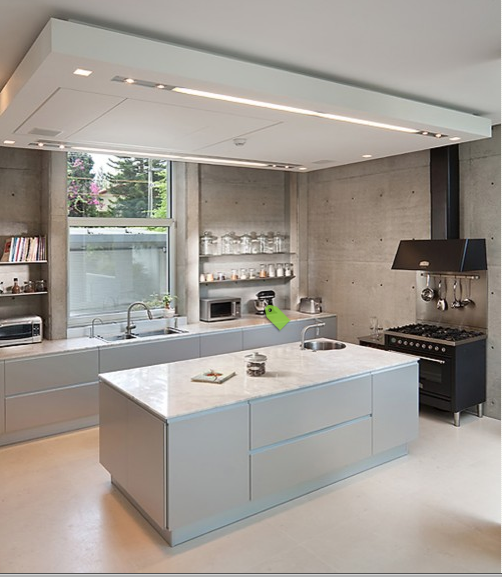 Modern Industrial Kitchens: The Architectural Dynamic Of The Drop Ceiling In This