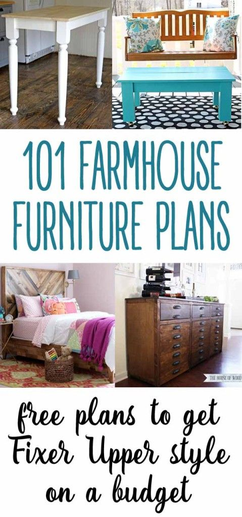 fixer upper style 101 free diy furniture plans farmhouse style rh pinterest com