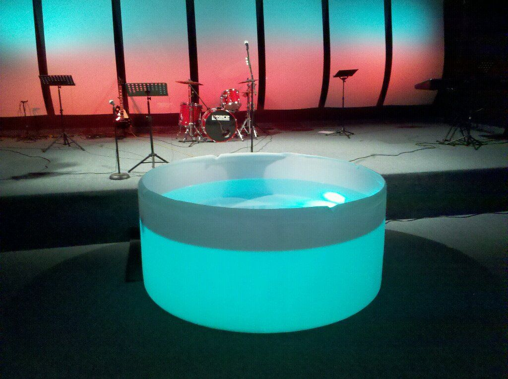 Homemade Baptisms Church Stage Design Stage Design Church Design