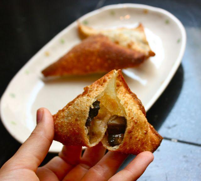 Cannella Vita: curry mushroom samosas