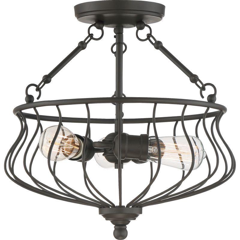Quoizel Bns1715 Semi Flush Mount Lighting Bronze Ceiling Lights