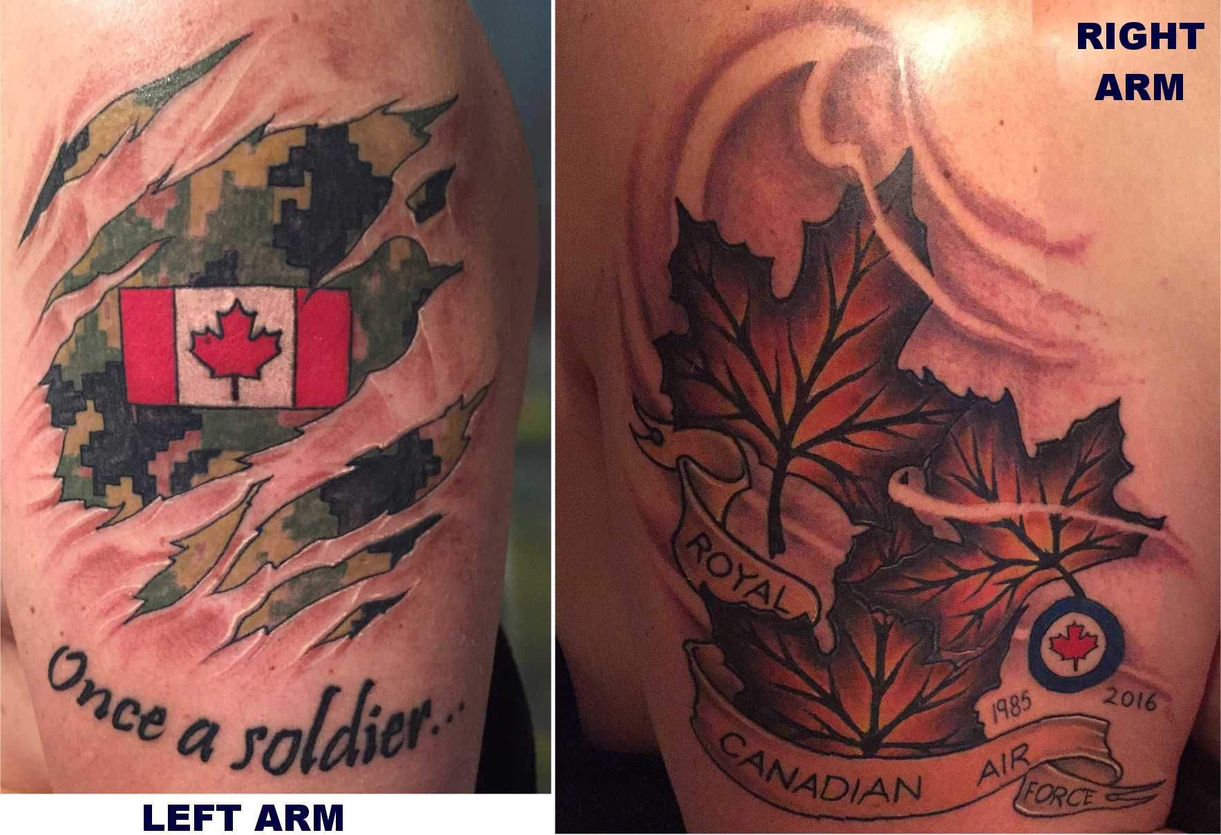 Canadian military tattoos rcaf caf cadpat tattoos for