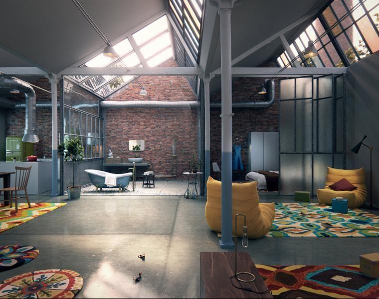 lofts de dise o recorre los 42 interiores m s. Black Bedroom Furniture Sets. Home Design Ideas