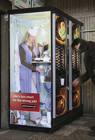 Jobsintown.de: Coffee dispenser | Ads of the World