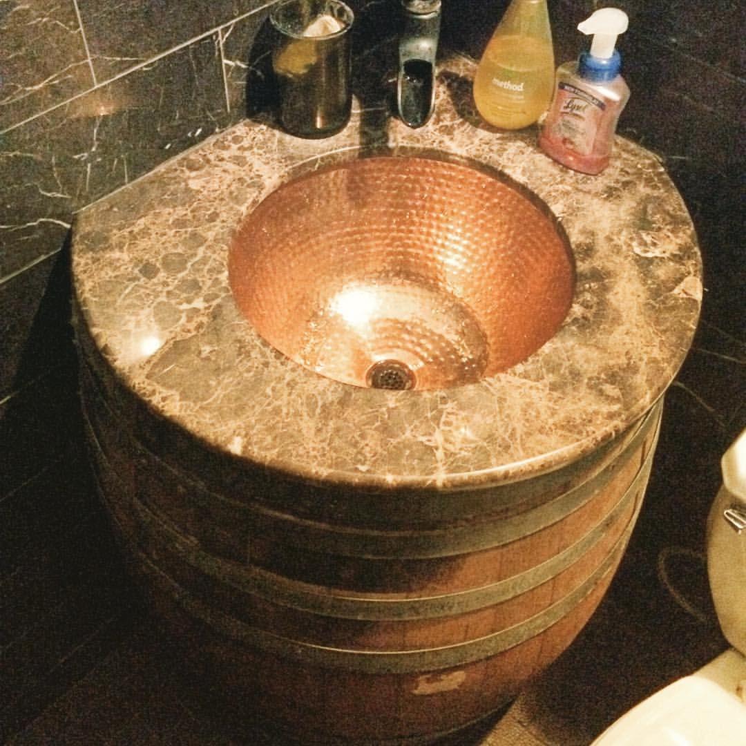 Wine Barrel Sinks Google Search Wine Barrel Ideas