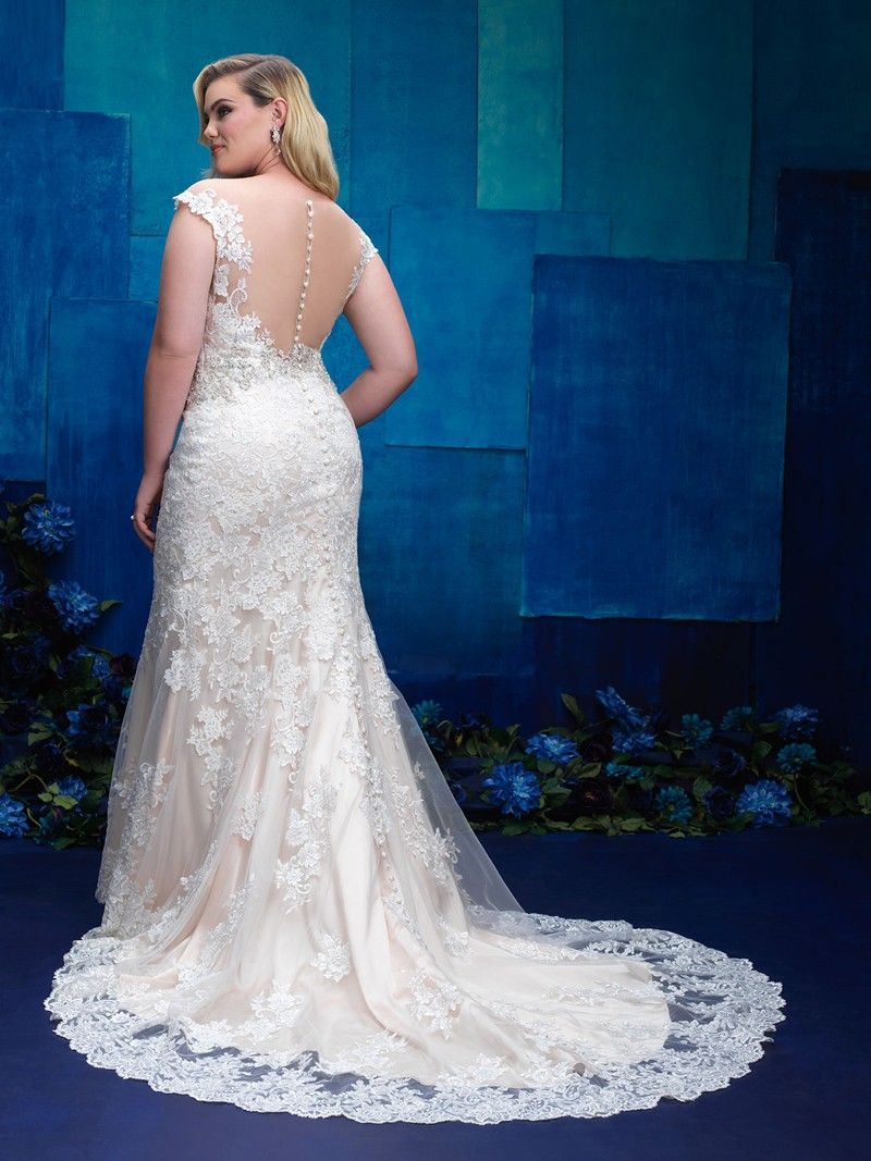 Allure Bridals W396 Plus Size Wedding Dress. #weddingdresses ...